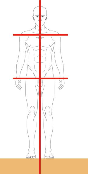 人体に対する「キ」 肩・腰・正中線